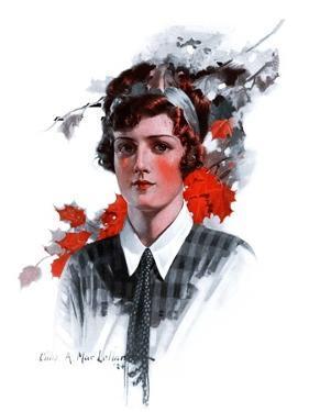 """""""Woman in Tie,""""November 15, 1924 by Charles A. MacLellan"""