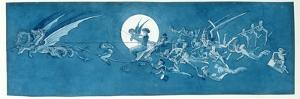 The Dragon Chariot and Fairy Minstrels Cross the Moon by Charles Altamont Doyle