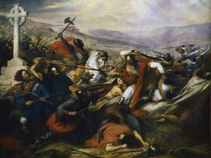 Battle of Poitiers, France, 732 by Charles Auguste Guillaume Steuben