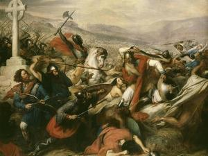 Battle of Tours (Also Called the Battle of Poitiers), France, 25 October 732 by Charles Auguste Steuben
