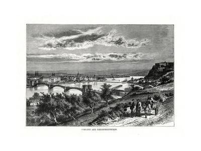 Koblenz and Festung Ehrenbreitstein, Germany, 1879