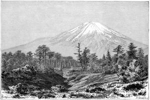 Mount Fuji, Japan, 1895 by Charles Barbant