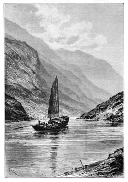 The Upper Yangtze River, China, 1895 by Charles Barbant