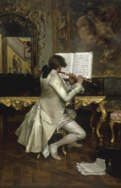 The Flute Player by Charles Bargue