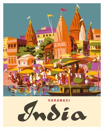 Varanasi India, Ganges River, (Banares, Banaras, Kashi) in Uttar Pradesh, Manikarnika Burning Ghat