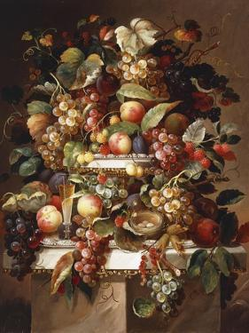 Still Life with Grapes and Peaches by Charles Baum