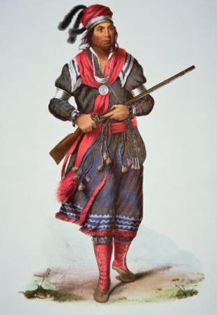 Chief Tukosee Mathla, 1826 by Charles Bird King
