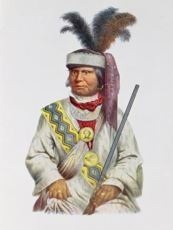 Halpatter-Micco or Billy Bowlegs, a Seminole Chief, C.1825, Illustration from 'The Indian Tribes… by Charles Bird King