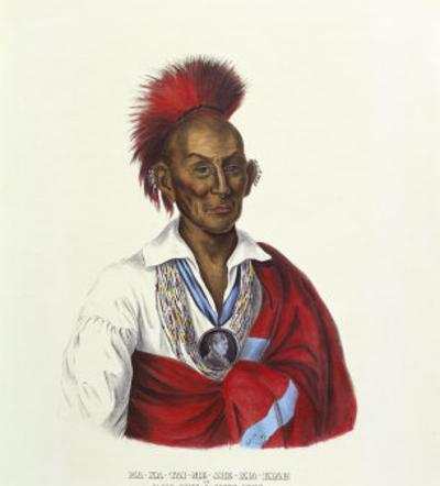 Ma-Ka-Tai-Me-She-Kiah (Black Hawk-A Saukie Brave) by Charles Bird King