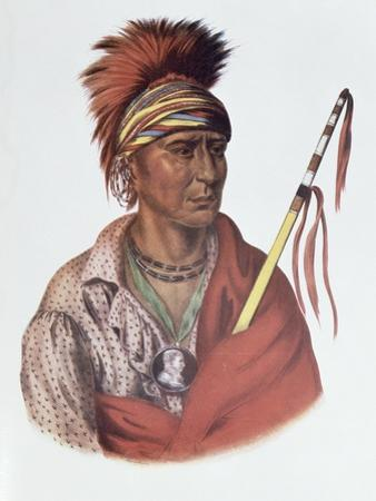 Notchimine, an Iowa Chief, The Indian Tribes of North America, c.1837 by Charles Bird King