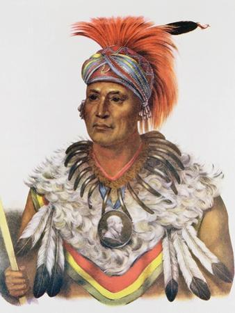 Wapella or the Prince Chief of the Foxes, 1837, Illustration from 'The Indian Tribes of North… by Charles Bird King