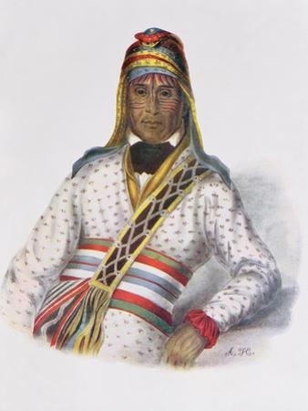 Yoholo-Micco, a Creek Chief, 1825, Illustration from 'The Indian Tribes of North America, Vol.2',… by Charles Bird King