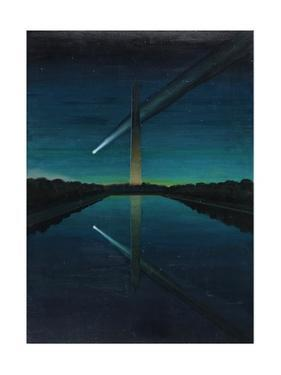 A Painting by Charles Bittinger Depicts a Comet with a Tail by Charles Bittinger