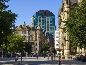 Albert Square, Manchester, England, United Kingdom, Europe by Charles Bowman