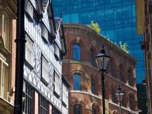 Architectural Contrasts, Manchester, England, United Kingdom, Europe by Charles Bowman