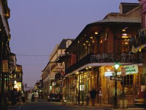 Bourbon Street in the Evening, New Orleans, Louisiana, USA by Charles Bowman