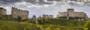 Chateau Gaillard panorama, Les Andelys, Eure, Normandy, France by Charles Bowman