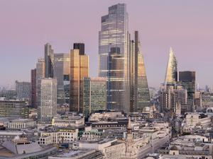 City of London, Square Mile, image shows completed 22 Bishopsgate tower, London, England by Charles Bowman