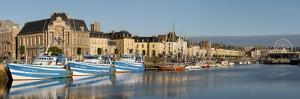 Dieppe harbour waterfront fishing port, Dieppe, Seine-Maritime, Normandy, France by Charles Bowman