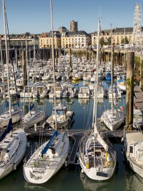 Dieppe harbour waterfront marina, Dieppe, Seine-Maritime, Normandy, France by Charles Bowman