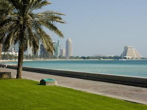 Doha Bay Waterfront, Doha, Qatar, Middle East by Charles Bowman