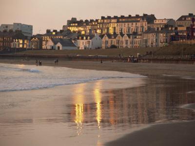 Dusk Light on the Beach at Portrush, County Antrim, Ulster, Northern Ireland, United Kingdom