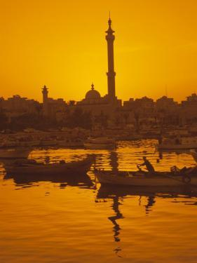 El Mina Mosque and Port, Tripoli, Lebanon, Middle East by Charles Bowman