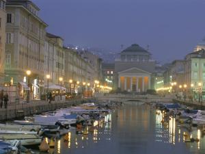 Grande Canale and Sant Antonio Thaumaturgo Christian Church, Trieste, Friuli-Venezia, Italy by Charles Bowman