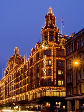 Harrods Department Store at Dusk, Knightsbridge, London, England, United Kingdom, Europe by Charles Bowman