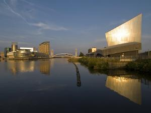Lowry Centre and Imperial War Museum North, Salford Quays, Manchester, England, United Kingdom by Charles Bowman
