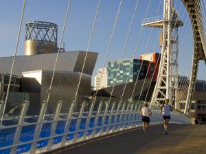 Lowry Centre, Salford Quays, Manchester, England, United Kingdom, Europe by Charles Bowman