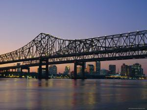 Mississippi River Bridge, New Orleans, Louisiana, USA by Charles Bowman