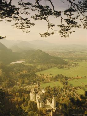 Neuschwanstein Castle, Bavaria, Germany, Europe by Charles Bowman