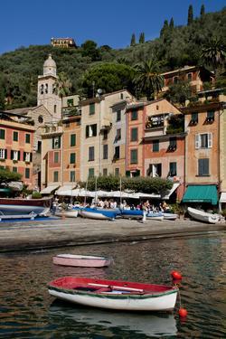 Portofino harbour Liguria Italy by Charles Bowman