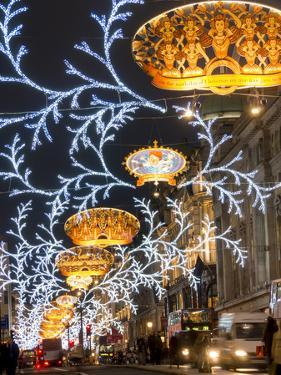 Regent Street Christmas Decorations by Charles Bowman