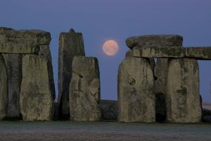Stonehenge Moon by Charles Bowman