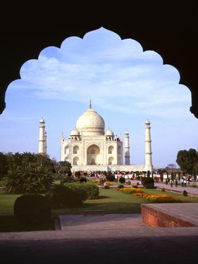 Taj Mahal Through Ornate Arch by Charles Bowman