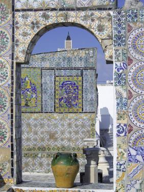 Terrace of the Palais d'Orient, Tunis, Tunisia, North Africa, Africa by Charles Bowman
