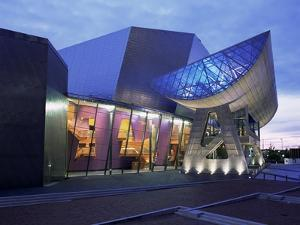 The Lowry Gallery at Dusk, Salford, Manchester, England, United Kingdom by Charles Bowman