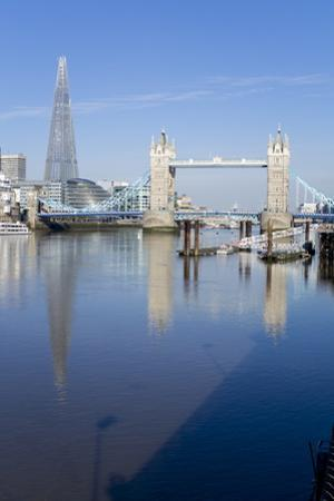 The Shard and Tower Bridge Stand Tall Above the River Thames by Charles Bowman