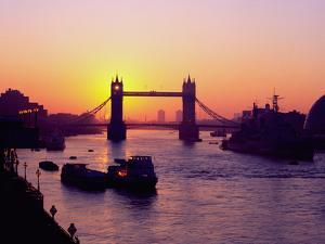 Tower Bridge at Sunrise, London by Charles Bowman