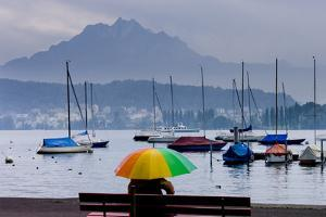 Umbrella On Lake Lucerne by Charles Bowman
