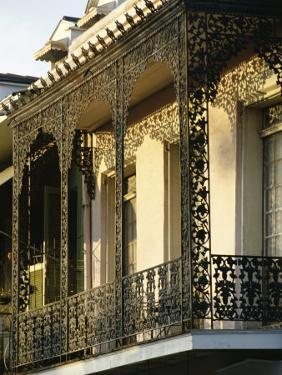 Wrought Ironwork on Balcony, French Quarter, New Orleans, Louisiana, USA by Charles Bowman