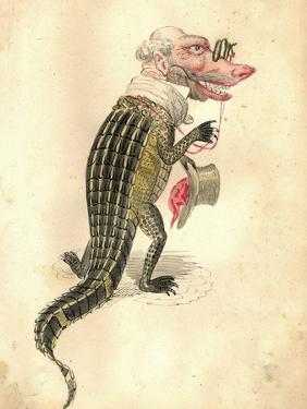 Alligator 1873 'Missing Links' Parade Costume Design by Charles Briton