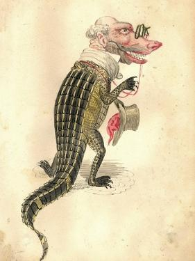 Alligator 1873 'Missing Links' Parade Costume Design by Charles Briton