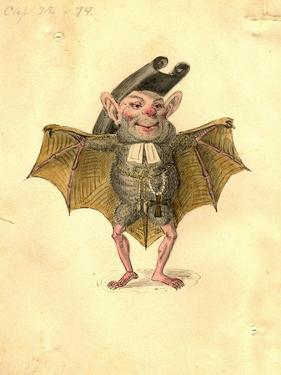 Bat 1873 'Missing Links' Parade Costume Design by Charles Briton