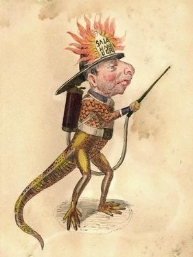 Salamander 1873 'Missing Links' Parade Costume Design by Charles Briton