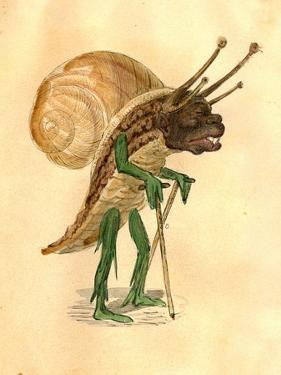 Snail 1873 'Missing Links' Parade Costume Design by Charles Briton