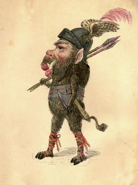 Wild Boar 1873 'Missing Links' Parade Costume Design by Charles Briton