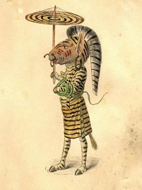 Zebra 1873 'Missing Links' Parade Costume Design by Charles Briton